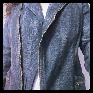 Snakeskin Moto Jacket *perfect condition!*